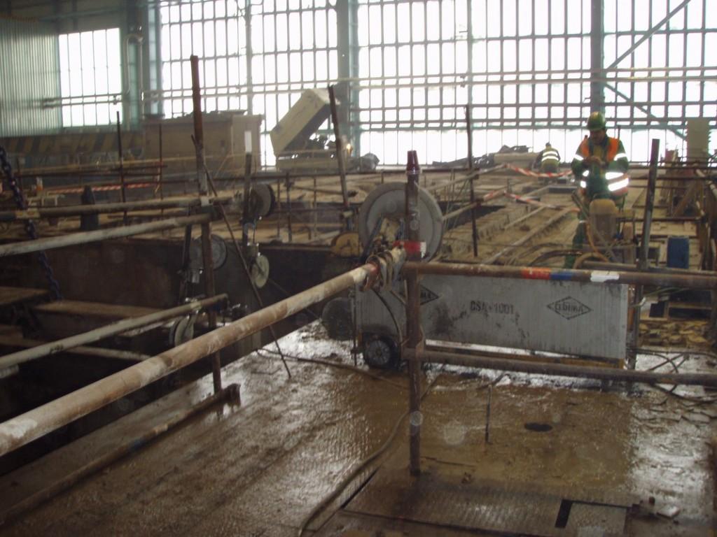 Rozřezání turbínové stolice - elektrárn Tušimice