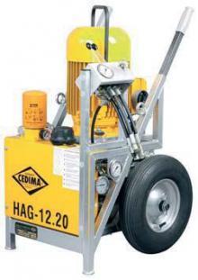 Řezání stěnovými pilami - hydraulický agregát