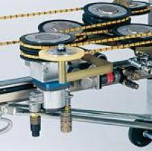 Řezání lanovými pilami - systém kladek