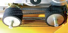 Řezání lanovými pilami - napínací systém