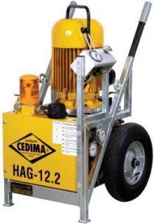 Řezání lanovými pilami - hydraulický agregát