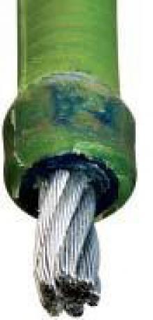 Řezání lanovými pilami - detail diamantového lana